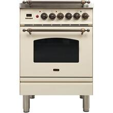 24 Inch Antique White Dual Fuel Natural Gas Freestanding Range