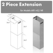 ZLINE 71 in. Extended Chimney (2PCEXT-681i-42/48)