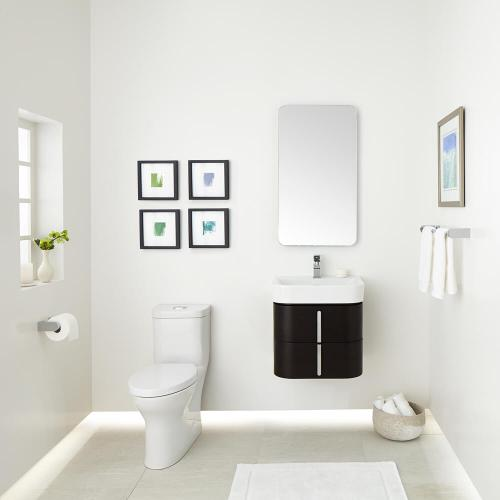 """Equility 22"""" Wall-Hung Vanity - Canvas White/Wenge"""
