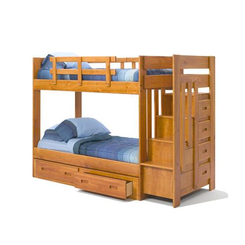 Woodcrest - New Stair Bunk (Shown with 1300UBC-R)