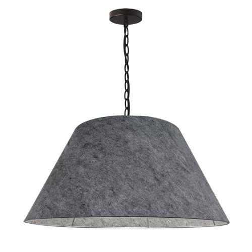 Product Image - 1lt Brynn Large Pendant, Gry Felt Shade, Black