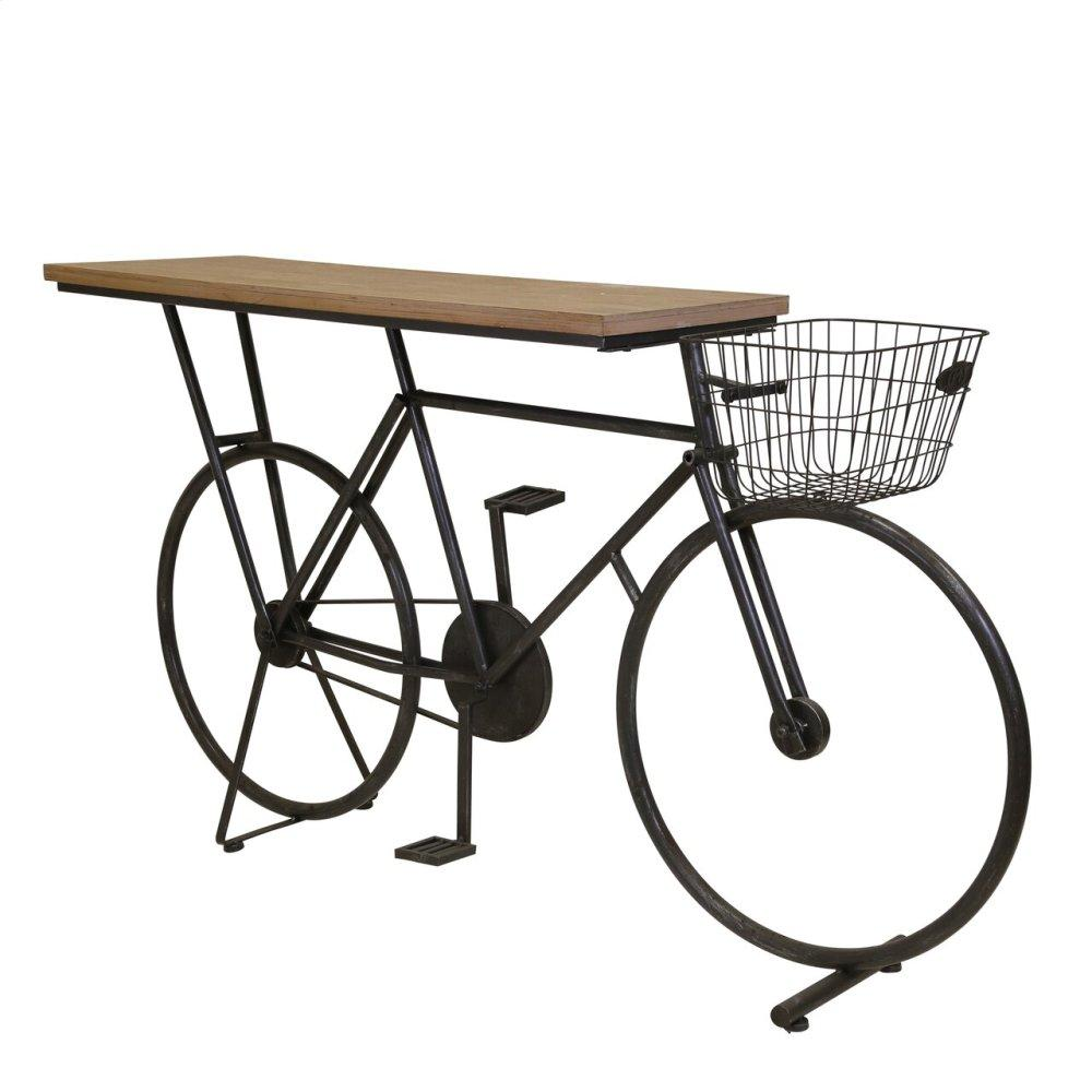 See Details - Bicycle Console Table, Charcoal