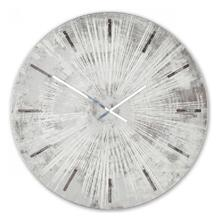 GRAY STAR  36in w X 36in ht X 2in d  Metal and Wood Wall Clock