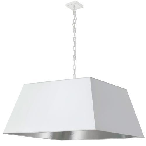 Product Image - 1lt Milano X-large Pendant, Wht/slv Shade, Wht