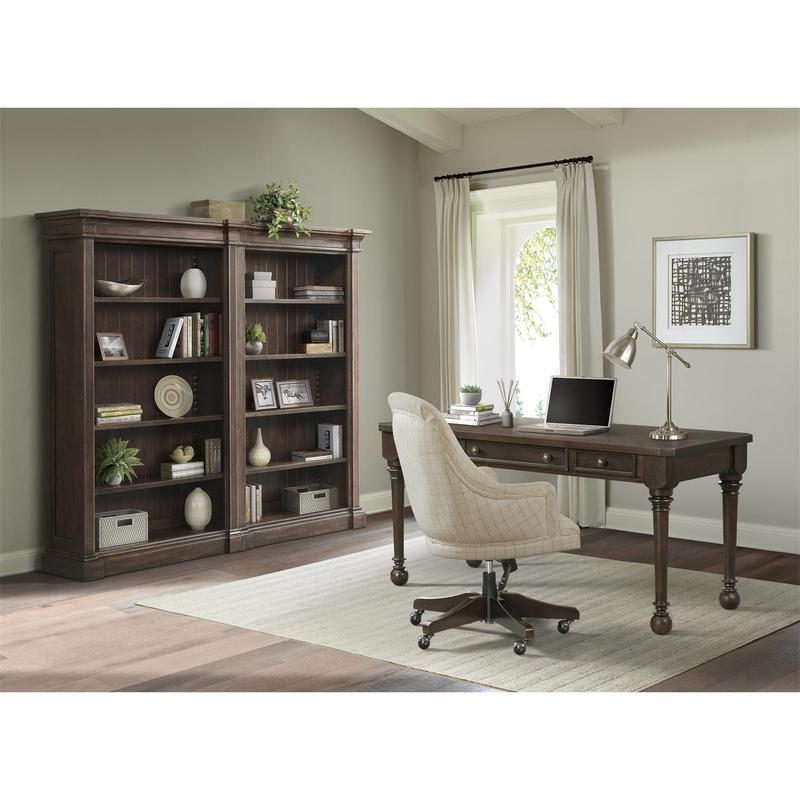 See Details - Rosemoor - Upholstered Desk Chair - Burnt Caramel Finish