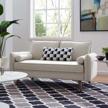 Revive Upholstered Fabric Loveseat in Beige