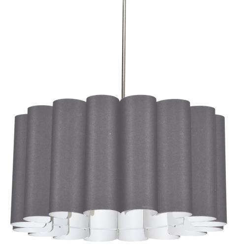 4lt Sandra Pendant Sglow Grey Polished Chrome
