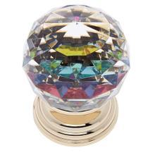 24k Gold 50 mm Round Prism Knob