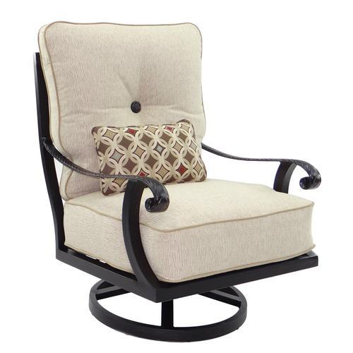 Castelle - Bellagio High Back Cushioned Lounge Swivel Rocker