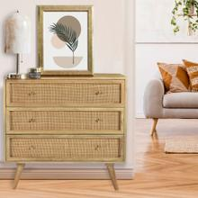 See Details - Cambridge Parkview 3-Drawer Mango Wood Chest in Natural, 33.5-In. W x 18-In. D x 31.5-In. H, 988010-NAT