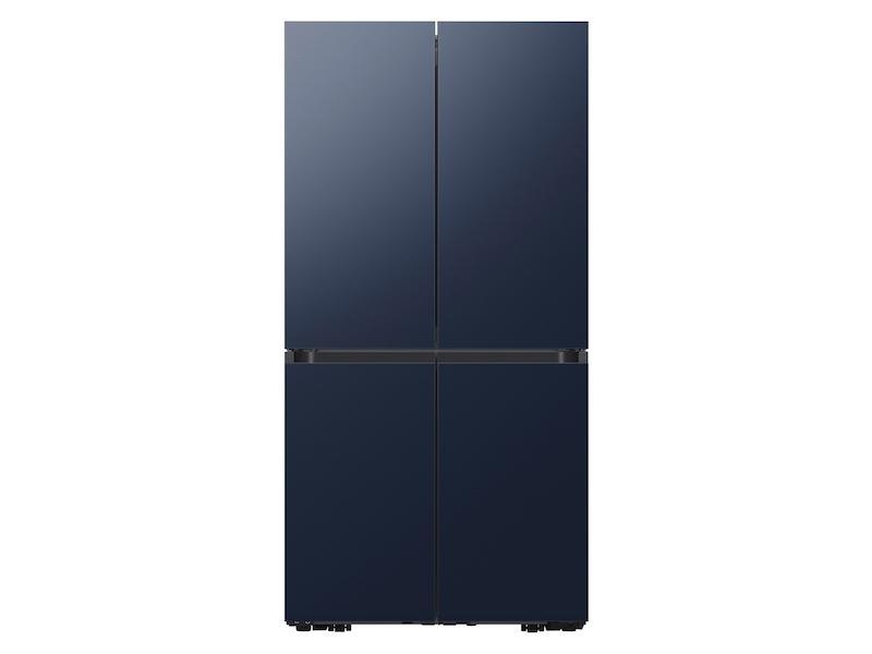 Samsung23 Cu. Ft. Smart Counter Depth Bespoke 4-Door Flex™ Refrigerator With Customizable Panel Colors In Navy Steel
