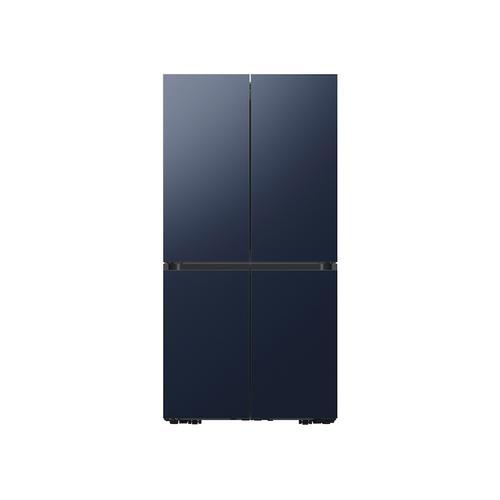 Samsung - 23 cu. ft. Smart Counter Depth BESPOKE 4-Door Flex™ Refrigerator with Customizable Panel Colors in Navy Steel