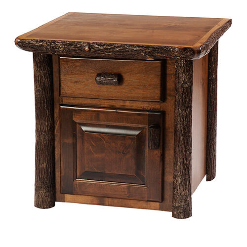 Enclosed End Table - Cognac