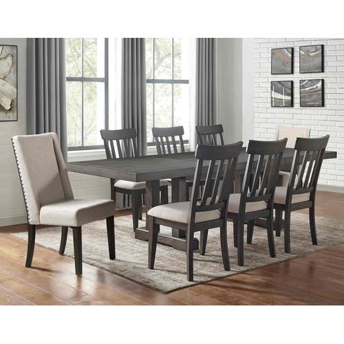 Napa 7-Piece Dining Set (Table, 2 Upholstered & 4 Side Chairs)