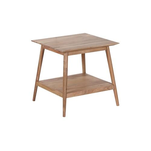 Porter International Designs - Portola Natural End Table with Shelf, 2005-003NT