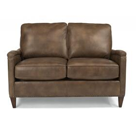Jacinto Leather Loveseat