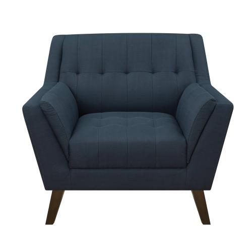 Emerald Home Furnishings - Modern Chair in Navy Fabric