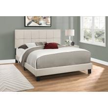 See Details - BED - QUEEN SIZE / BEIGE LINEN