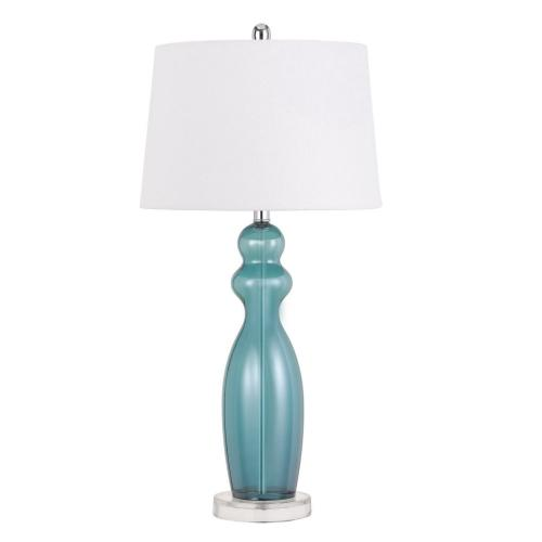 Cal Lighting & Accessories - 150W 3 Way Bristol Glass Table Lamp (Sold And Priced in Pairs)