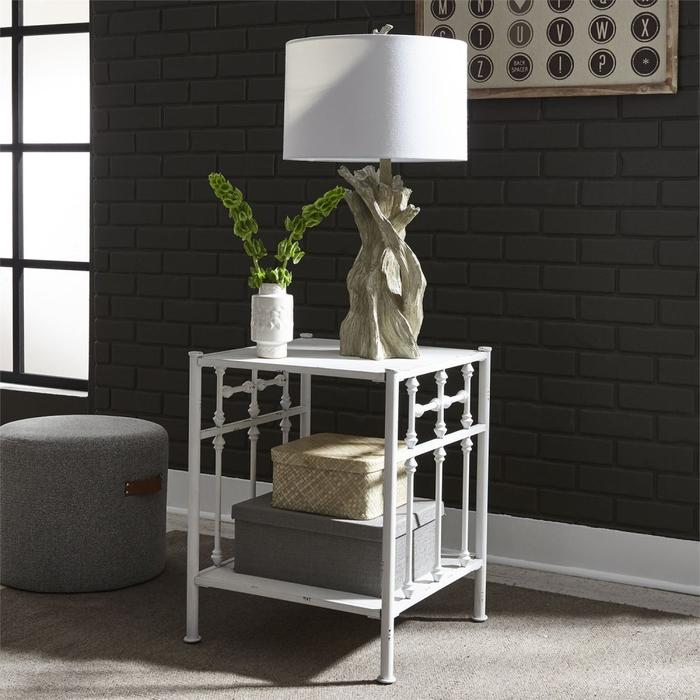 Open Night Stand - Antique White