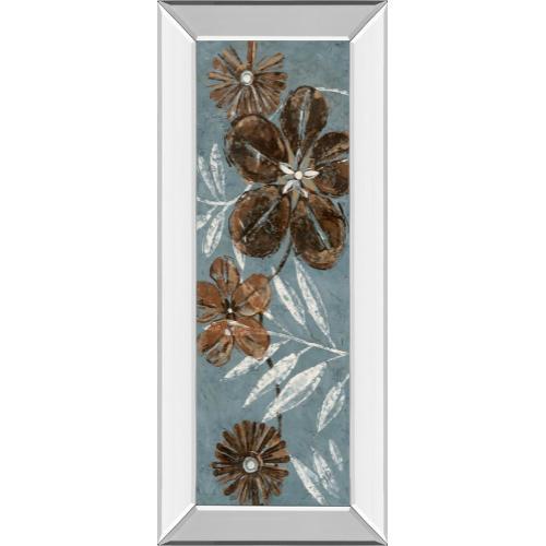 """Denim Garden Il"" By Maria Donovan Mirror Framed Print Wall Art"