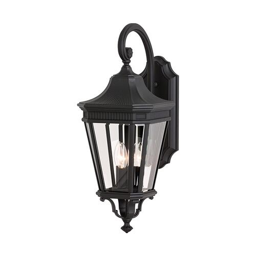 Cotswold Lane Medium Lantern Black