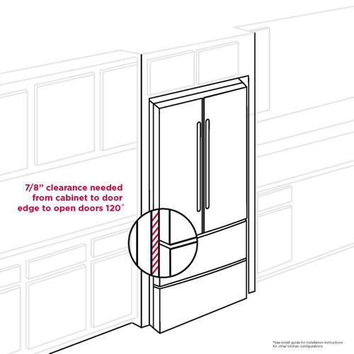 Gallery - Frigidaire Professional 21.4 Cu. Ft. Counter-Depth 4-Door French Door Refrigerator