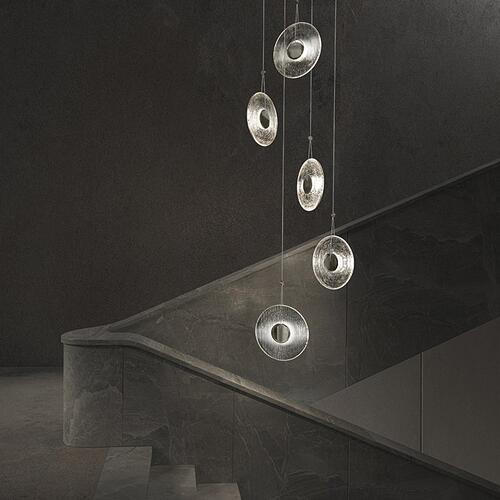 Sonneman - A Way of Light - Meclisse LED Pendant [Size=3-Light, Color/Finish=Satin Black w/Clear Glass]