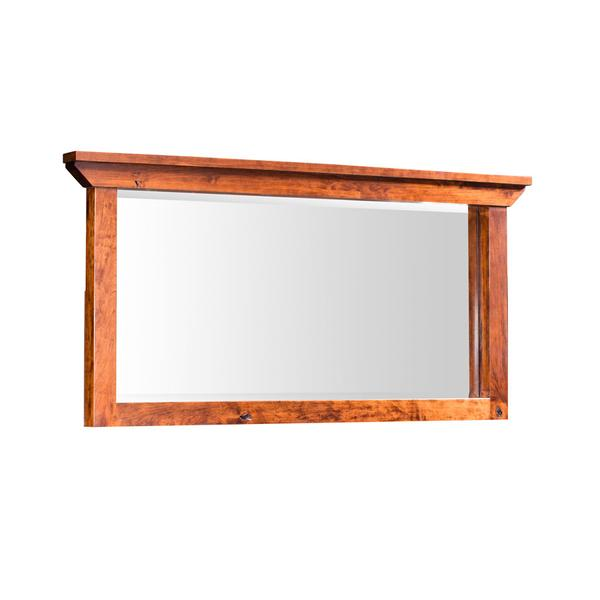 "B&O Railoade Trestle Bridge Bureau Mirror, B&O Railroade Trestle Bridge Bureau Mirror, 57""w"