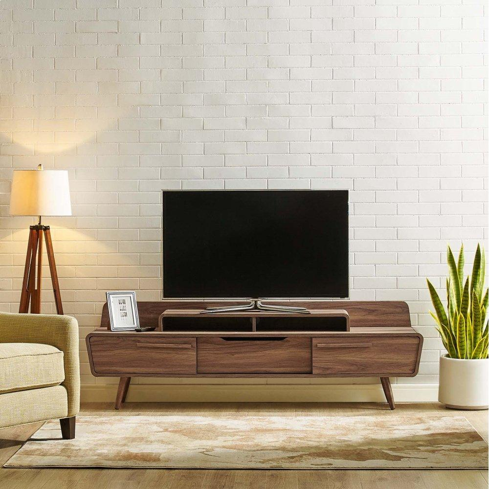 "Omnistand 74"" TV Stand in Walnut"
