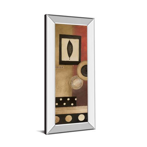 """Classy Art - """"Radius Panel I"""" By Kimberly Poloson Mirror Framed Print Wall Art"""