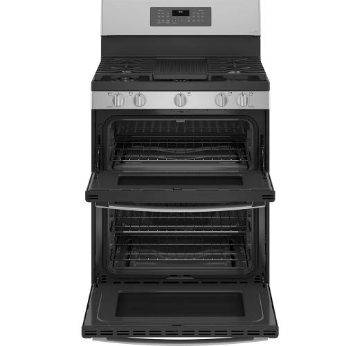 GE Appliances Canada - GE Profile 30 '' Freestanding Double Oven Gas Range with Convection Oven Stainless Steel - PCGB965YPFS