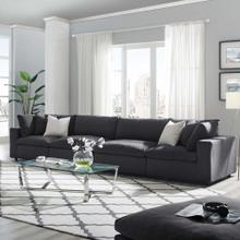 Commix Down Filled Overstuffed 4 Piece Sectional Sofa Set in Gray