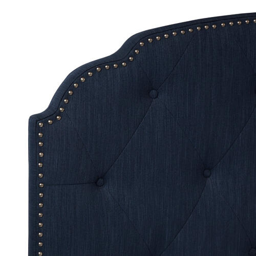 Accentrics Home - Tufted Upholstered Traditional Queen Bed in Cobalt Blue