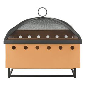 Wyatt Square Fire Pit - Copper/black