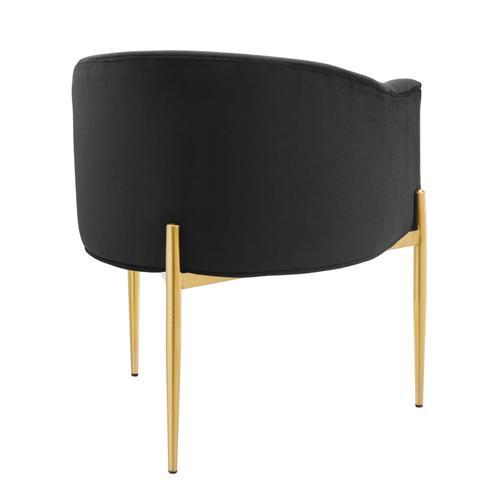 Modway - Savour Tufted Performance Velvet Accent Chair in Black