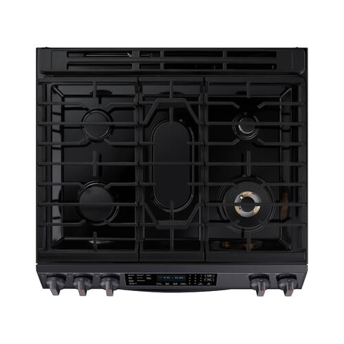 6.0 cu ft. Smart Slide-in Gas Range with Air Fry in Black Stainless Steel