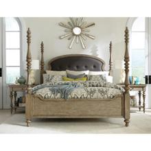 See Details - Corinne - Full/queen Upholstered Poster Headboard - Sun-drenched Acacia Finish