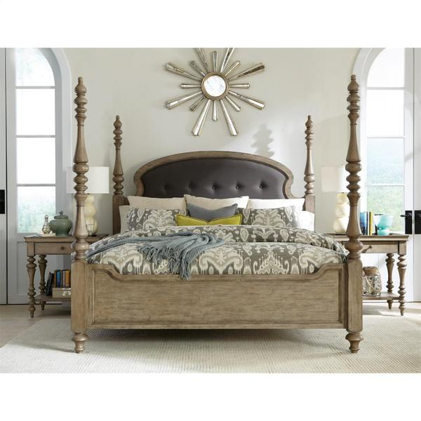 See Details - Corinne - Marble Top Leg Nightstand - Sun-drenched Acacia Finish