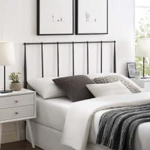 Kiana Queen Metal Stainless Steel Headboard in Brown