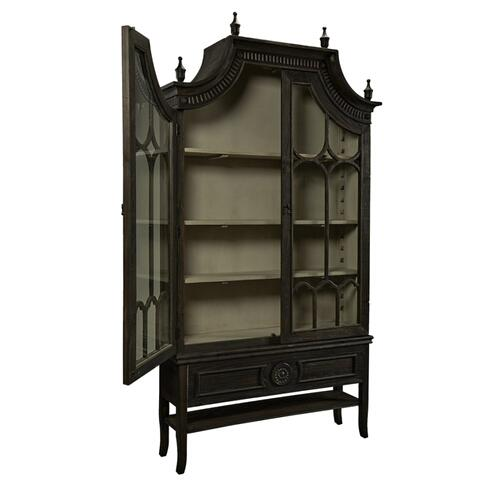 Reims Cathedral Black Arched Cabinet