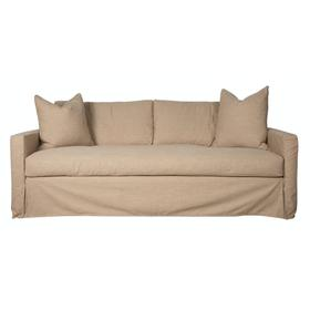 Track Arm, Standard Depth, Bench Seat, Slipcover Sofa.