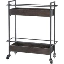 Masataka Metal Frame Two-Tier with Metal Shelves Rectangular Bar Cart