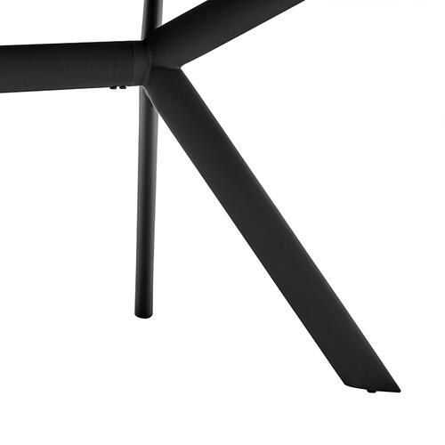 Armen Living - Margot Dark Gray Rectangular Dining Table with Black Finish