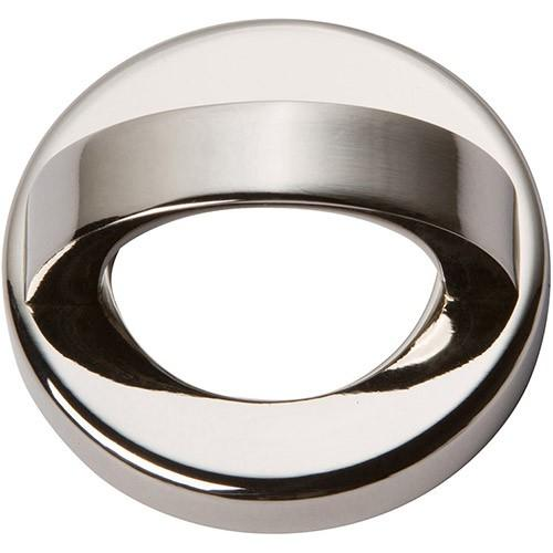 Tableau Round Base and Top 1 7/16 Inch (c-c) - Polished Nickel