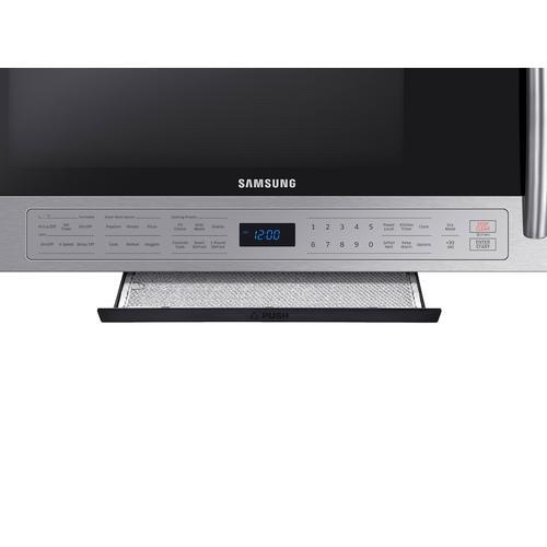 Samsung - 2.1 cu. ft. Over The Range Microwave with Ceramic Enamel Interior