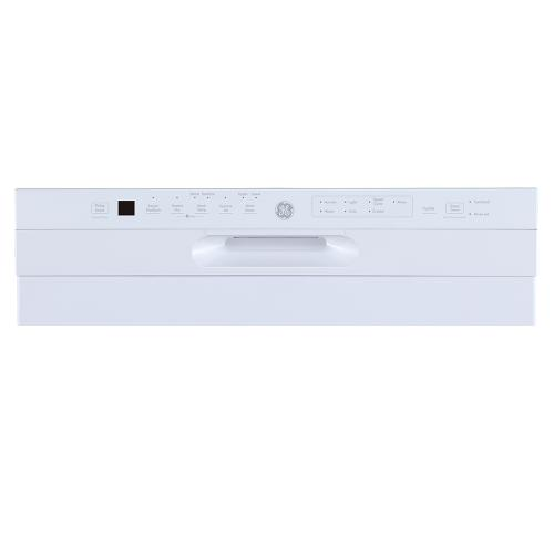 """GE 24"""" Built-In Front Control Dishwasher with Stainless Steel Tall Tub White - GBF655SGPWW"""