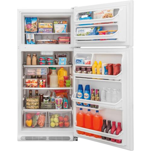Crosley - Crosley Top Mount Refrigerator : Top Mount Refrigerator - Stainless