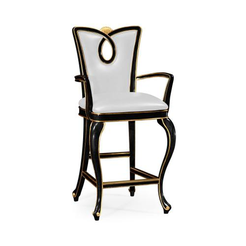 Black Painted Counter Stool (Side)