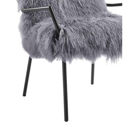 Tov Furniture - Lena Grey Sheepskin Chair
